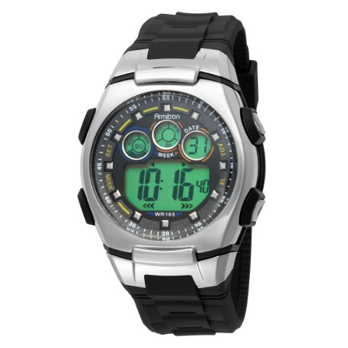 Armitron Men's 408117BLK Chronograph Black Digital Sport Watch