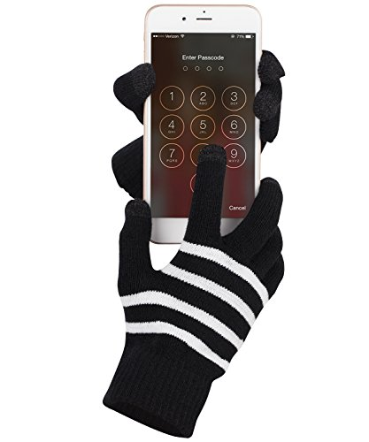 fosmon-unisex-winter-gloves-with-three-conductive-fingertips-for-all-touch-screen-devices-black-whit