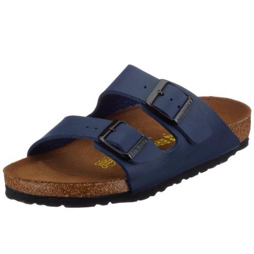 Birkenstock Arizona 51063, Unisex - Erwachsene Clogs & Pantoletten aus Birko-Flor, Blau (Blau), EU 47 (schmal)