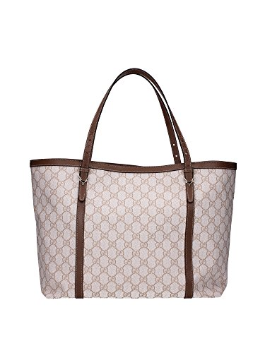 Borse Shopping Gucci Donna Tessuto Bianco, Beige e Marrone 309613KGD6G9172 16x27x44 cmEU