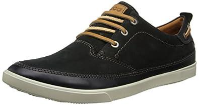 ECCO Men's Collin Nautical Oxford,Soft Black,43 EU/9-9.5 M US