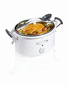 Hamilton Beach 33163 Stay Or Go 6 Quart Oval Slow Cooker