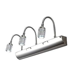 waterproof modern crystal led bathroom wall lights 3 light