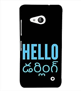 PrintVisa Quotes Design 3D Hard Polycarbonate Designer Back Case Cover for Nokia Lumia 550