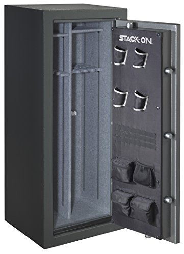 Stack On Td 24 Gp C S Total Defense 22 24 Gun Safe With Combination Lock Gray Pebble Home Securit
