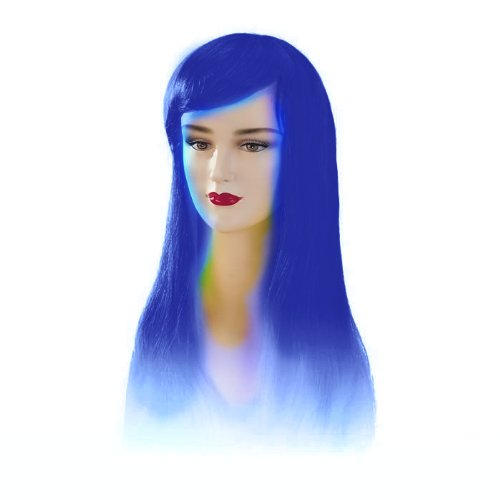Stargazer Adjustable Jezzabel Style Fashion Wig - Blue