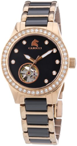 Carucci Watches Women's Automatic Watch Enna II CA2206RG-BK with Metal Strap