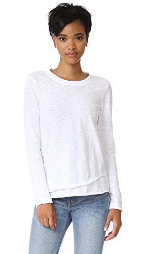 Wilt Women's L/s Mock Layer T, White, Large (Wilt Clothing compare prices)