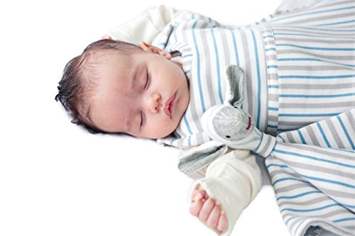 Merino Kids Winter-Weight Baby Sleep Bag For Babies 0-2 Years, Grey/Blue
