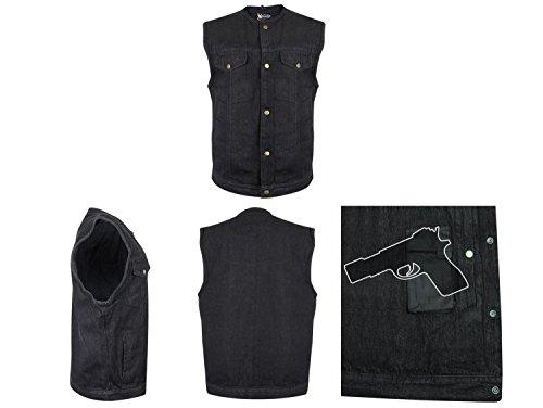 Gilet Moto Denim Jeans Nero Sons Anarchy Samcro Police Military Swat Taglia 2XL