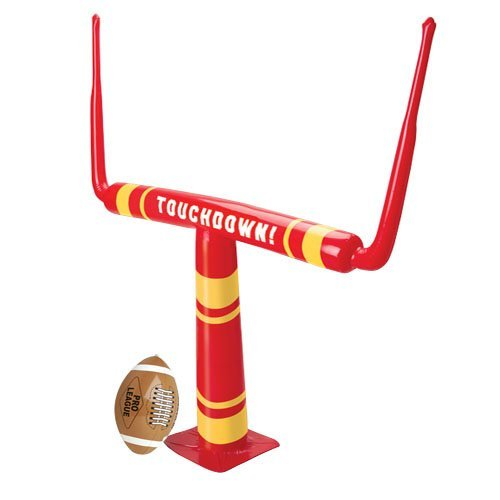 US Toy Blow Up Inflatable Football Goal with Blow Up Football Game, 46 x 39