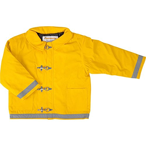 Yellow Firefighter Jacket for Kids (Size: X-Large 8-10)