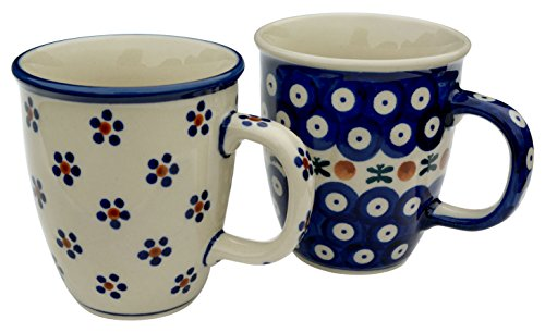 hand-decorated-polish-pottery-manu-faktura-set-2xk-081-64-np-r-70-np-x-60-mug-pair-of-2-mars-cobalt-