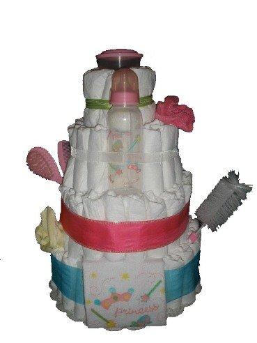4 Tier Pretty Princess Diaper Cake