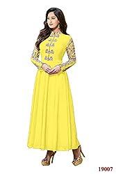 Branded Georgette Yellow Color Salwar Suit
