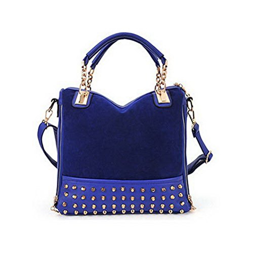 Fashion Road Women Lady Rivet Studded Tote Medium Handbag Shoulder Bag