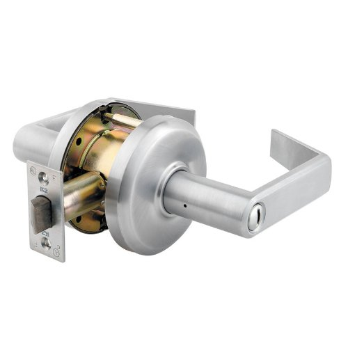 Stanley Commercial Hardware Commercial Privacy Leverset from the QCL200 Collection, Sierra Style, Satin Nickel Finish (Commercial Privacy Lever compare prices)