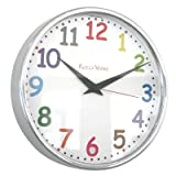 Roco Verre Colour Numbers Radio Control Clock 26cm (26cm Diameter Polished)