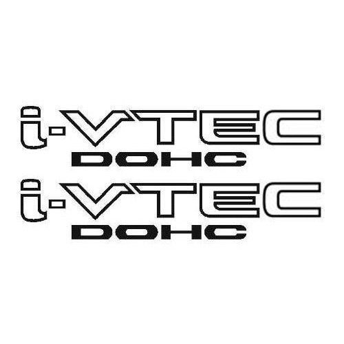 2 Pieces BLACK I-VTEC DOHC STICKER DECAL EMBLEM CIVIC S2000 ACCORD JDM IMPORT ILLEST (Vtec Dohc Emblem compare prices)