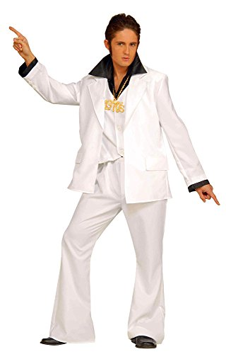 Enimay Men's 1970's Disco Fever Elvis Inspired Retro Halloween Costume Adult Size