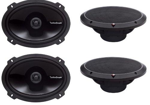 "4) New Rockford Fosgate P1692 6X9"" 300 Watt 2 Way Car Coaxial Speakers Audio"
