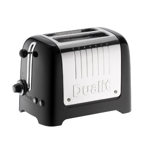 Dualit 26205 2 Slot Lite Toaster in Black Gloss Finish