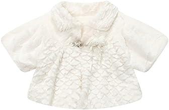 Richie House Little Girls39 fleece cape with flower brooch RH1059
