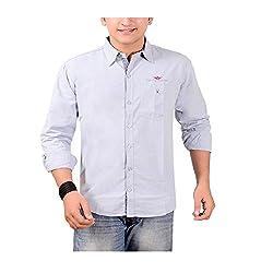 Anry Men's Casual Shirts (LBLU4100_Blue_38)