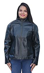 Romano Women's Classy Black 100% Genuine Leather Jacket