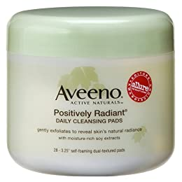 Product Image Aveeno Active Naturals Positively Radiant Daily Cleansing Pads - 28 pads
