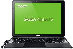 Acer Switch Alpha 12 (SA5-271-30BC) 30,5 cm (12 Zoll QHD IPS) Convertible Notebook (Intel Core i3-6100U, 4GB RAM, 128GB SSD, Intel HD Graphics 520, Win 10) silber