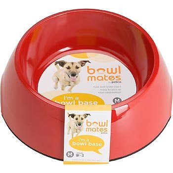Bowlmates By Petco Medium Red Round Base