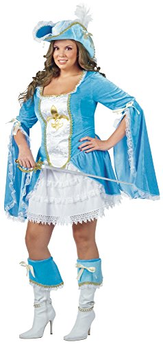 Costumes For All Occasions FW121455 Madam Musketeer 16W-20W