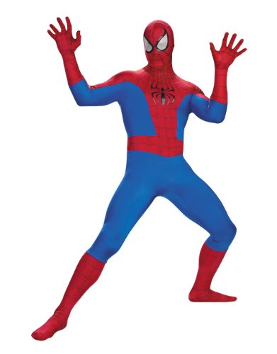 Spiderman Costume, Mens Spiderman Comic Classic Supreme Costume, X-Large, CHEST 42 - 46