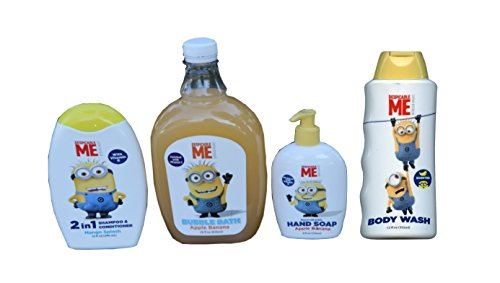 Apple Banana Despicable Me 4 Pack Kit (Wash, Soap, Bath, Shampoo)(Pack of 4 Bottles) - 1