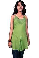 Miraaya Women's Tunic (BASICO3B_625_Green_Small)
