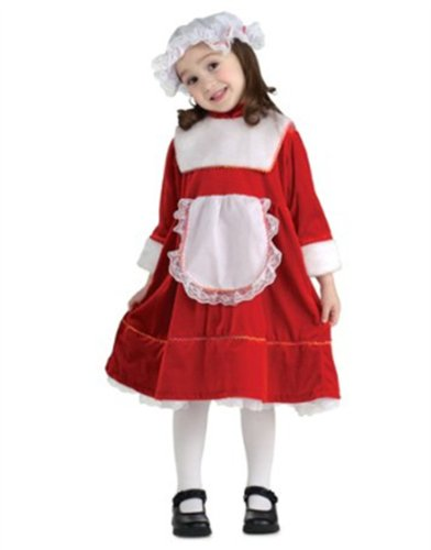 Girls Classic Lil Little Mrs Santa Claus Costume
