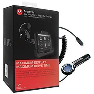 Motorola Droid X Car Mount with Rapid Car Charger in Retail Packaging