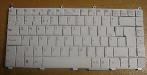 Brand New Sony Vaio VGN-FE11H VGN-FE11M Keyboard P/N 147963111 - White Color - UK Layout *** 1 Year Warranty when purchased from (Laptop-Accessories4u)