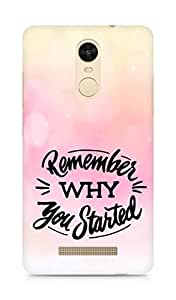 AMEZ remember why you started Back Cover For Xiaomi Redmi Note 3