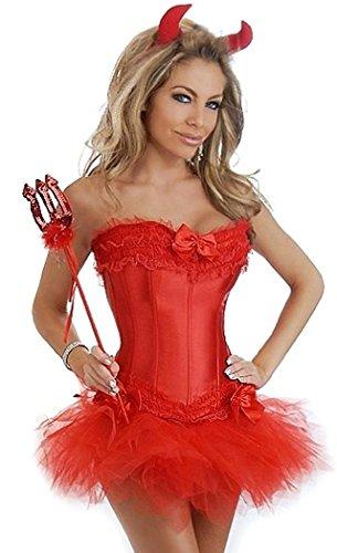 Daisy Corsets 4 PC Glitter Devil Costume
