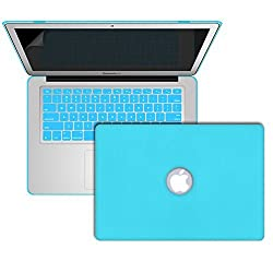 MacBook Leather Case Cover, SlickBlue Leather Coated Case with Keyboard Skin & Screen Protector for MacBook Air 13