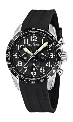 Candino C4472/2 - Reloj cronógrafo de cuarzo para hombre con correa de plástico, color negro