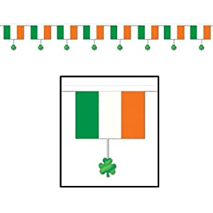 Flags & Shamrocks Banner Party Accessory (1 count) (1/Pkg) from The Beistle Company