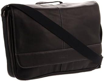 (2.4折)Kenneth Cole男士全粒面真皮邮差包Risky Business Messenger Bag 黑 $63.26