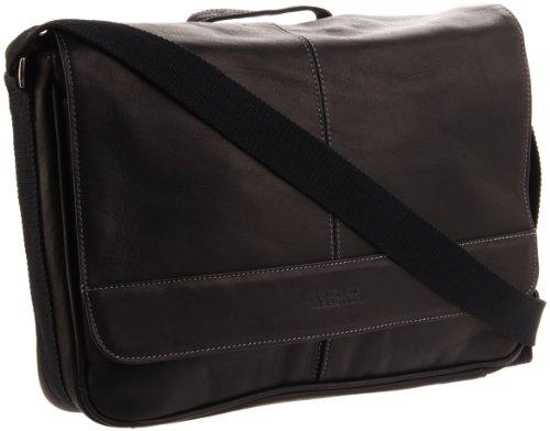 Kenneth Cole Risky Business Messenger Bag 真皮信使包/单肩通勤包,黑色款