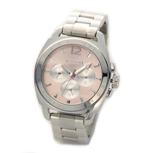 Coach boyfriend bracelet women's watch stainless steel Pink Dial 14501441