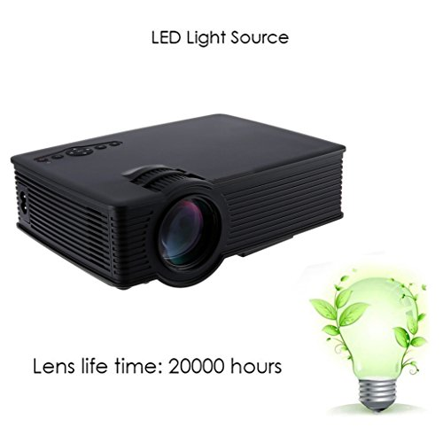 Lary Intel Mini Home Theater GP-9 HD LCD Projector 2 USB 1800 Lumens 1920 X 1080 Pixels Multimedia Video Micro...