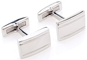 Classic Stainless Steel Cufflinks in a Nice Box by Quality Stays