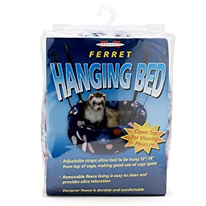 Marshall Ferret Hanging Bed, Pattern Fleece